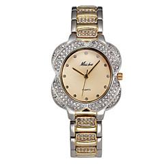 Heren Dames Gesimuleerd Diamant Horloge Pavé horloge Kwarts Legering Band Glitter Zilver Goud