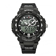 Men's Sport Watch Digital Watch Wrist watch Casual Watch Swiss Digital LED Calendar Chronograph Dual Time Zones Stopwatch Luminous