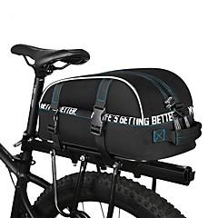 自転車用バッグ 8L自転車用リアバッグ 反射ストリップ 防雨 防水ファスナー 自転車用バッグ サイクリングバッグ