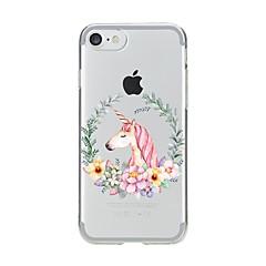 Назначение iPhone X iPhone 8 Чехлы панели Ультратонкий С узором Задняя крышка Кейс для единорогом Мягкий Термопластик для Apple iPhone X