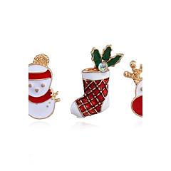 여성용 브로치 패션 Chrismas 합금 보석류 제품 캐쥬얼 크리스마스