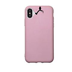 Назначение iPhone X iPhone 8 iPhone 8 Plus Чехлы панели С узором Задняя крышка Кейс для Черепа Цветы Мягкий Термопластик для Apple iPhone