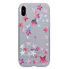 Назначение iPhone X iPhone 8 iPhone 8 Plus Чехлы панели Прозрачный С узором Задняя крышка Кейс для Геометрический рисунок Мягкий
