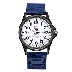 preiswerte Tolle Angebote auf Uhren-Paar Armbanduhr Cool / Punk / Großes Ziffernblatt Stoff Band Retro / Freizeit / Modisch Schwarz / Blau / Braun