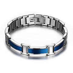 Недорогие Браслеты-Муж. Браслеты-цепочки и звенья Браслет цельное кольцо Multi-камень Природа Мода Титановая сталь Прочее Круглый Бижутерия Подарок