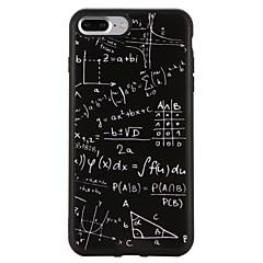 tanie Etui do iPhone 5S / SE-Kılıf Na Apple iPhone 7 Plus iPhone 7 Odporne na wstrząsy Wzór Czarne etui Geometryczny wzór Miękkie TPU na iPhone 7 Plus iPhone 7 iPhone