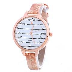 Dames Dress horloge Modieus horloge Polshorloge Chinees Kwarts PU Band Bedeltjes Vrijetijdsschoenen Elegante horloges Zwart Wit Blauw