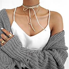 Женский Ожерелья-бархатки Бижутерия Стразы Имитация Алмазный В форме банта Euramerican Простой стиль Двойной слой Мода РегулируетсяБелый