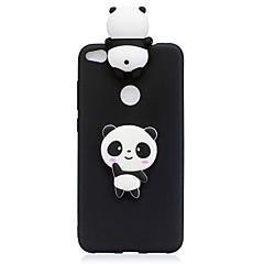 tanie Etui / Pokrowce do Huawei-Kılıf Na Huawei P10 Lite P10 Wzór DIY Czarne etui Panda Miękkie TPU na P10 Lite P10 P8 Lite (2017) Huawei