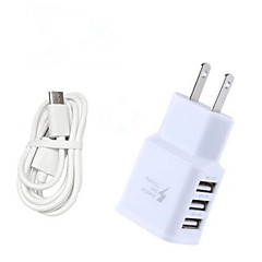 3.1A EU/US Triple USB Port Wall Home Travel AC Charger Adapter with 100CM Type-C Cable for Samsung S8/S8 Plus Huawei P10 SONY LG Xiaomi and Others