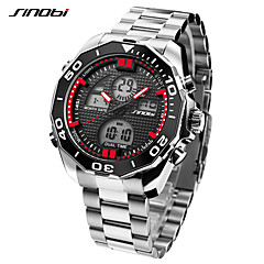 cheap Luxury Watch-SINOBI Men's Digital Military Watch Sport Watch Japanese Alarm Calendar / date / day LED Large Dial Stopwatch Shock Resistant Dual Time