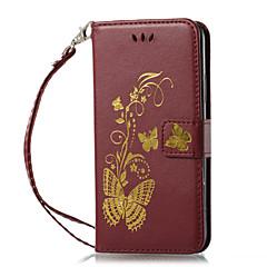 Недорогие Кейсы для iPhone-Кейс для Назначение Apple iPhone X iPhone 8 Бумажник для карт Кошелек со стендом Флип Магнитный С узором Рельефный Чехол Сплошной цвет