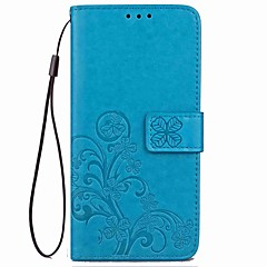 Недорогие Чехлы и кейсы для Galaxy Note 5-Кейс для Назначение SSamsung Galaxy Note 8 Note 5 Бумажник для карт Кошелек со стендом Флип Магнитный С узором Рельефный Чехол Цветы