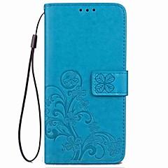 voordelige Galaxy Note 3 Hoesjes / covers-hoesje Voor Samsung Galaxy Note 8 Note 5 Kaarthouder Portemonnee met standaard Flip Magnetisch Patroon Reliëfopdruk Volledig hoesje Bloem