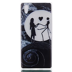 Недорогие Чехлы и кейсы для Sony-Кейс для Назначение Sony Сияние в темноте Кейс на заднюю панель Соблазнительная девушка Мягкий ТПУ для Sony Xperia XZ / Sony Xperia L1