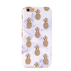 billige Etuier til iPhone 6s-Etui Til Apple iPhone 7 Plus iPhone 7 Ultratyndt Mønster Bagcover Marmor Frugt Blødt TPU for iPhone 7 Plus iPhone 7 iPhone 6s Plus iPhone