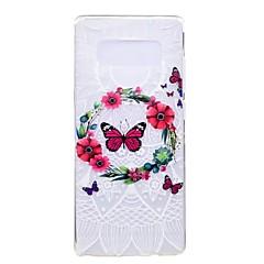 για κάλυψη περίπτωση εξαιρετικά λεπτό μοτίβο πίσω κάλυψη περίπτωση πεταλούδα λουλούδι μαλακό tpu για samsung σημείωση 8 σημείωση 5 άκρη