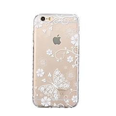 Kompatibilitás iPhone X iPhone 8 tokok Ultra-vékeny Minta Hátlap Case Pillangó Puha Hőre lágyuló poliuretán mert Apple iPhone X iPhone 8