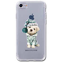 Voor iPhone 7 iPhone 7 Plus Hoesje cover Transparant Patroon Achterkantje hoesje Hond dier Cartoon Zacht TPU voor Apple iPhone 7 Plus