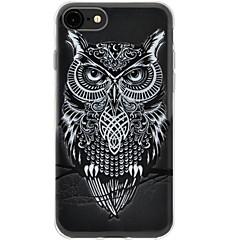 halpa iPhone 4s / 4 kotelot-Etui Käyttötarkoitus Apple iPhone 7 Plus iPhone 7 Ultraohut Kuvio Takakuori Pöllö Pehmeä TPU varten iPhone 7 Plus iPhone 7 iPhone 6s Plus