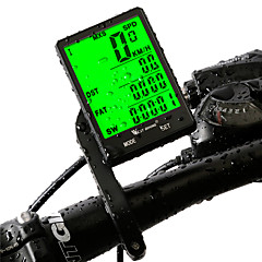 West biking Cykelcomputere Vandtæt Trådløs Av - Gennemsnitshatighed Triptæller Max - Maximum Hastighed SPD - Aktuelle Hastighed LCD