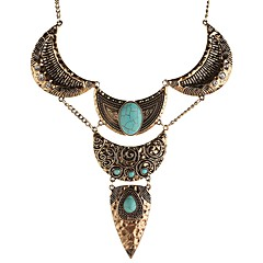 Women's Pendant Necklaces Jewelry Turquoise Alloy Basic Personalized Folk Style Jewelry For Evening Party