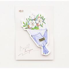 お買い得  メモ/ノート/付箋紙-学校/オフィス用の1本の花の花束のセルフスティックノートセット(ランダムな色)