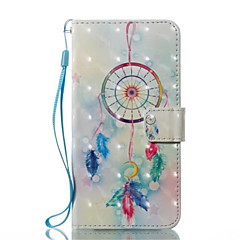 Недорогие Кейсы для iPhone X-Кейс для Назначение Apple iPhone X iPhone X iPhone 8 iPhone 8 Plus Бумажник для карт Кошелек со стендом Флип Чехол Ловец снов Твердый