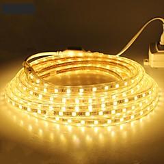 お買い得  LED ストリングライト-18メートル/ 1個 220V 5050は、屋外の防水ガーデン屋外lightingeuは、EUプラグフレキシブルテープロープストリップライトのクリスマスを主導