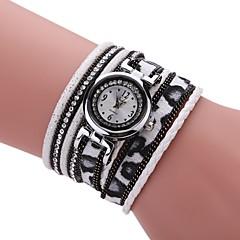 お買い得  大特価腕時計-女性用 クォーツ ダミー ダイアモンド 腕時計 ブレスレットウォッチ 中国 カジュアルウォッチ PU バンド チャーム ヴィンテージ カジュアル Elegant ファッション ブラック 白 ブルー レッド ブラウン ネービー