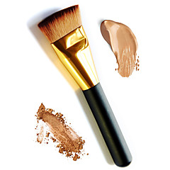 1pc macio e longo punho dourado base plana base de escova base base escova cosmética de contorno blusher em pó solto