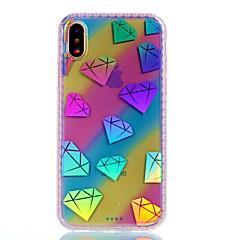 Назначение iPhone X iPhone 8 Чехлы панели С узором Задняя крышка Кейс для Градиент цвета Твердый Акриловое волокно для Apple iPhone X