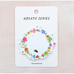 1 PC Wreath Design Self-Stick Note Set(Random Color)