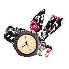 Γυναικεία Μοδάτο Ρολόι Ρολόι Ξύλο Ιαπωνικά Χαλαζίας ξύλινος Ύφασμα Μπάντα Φυλαχτό Δημιουργικό Κομψή Μαύρο Rose