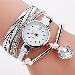 Women's Simulated Diamond Watch Fashion Watch Bracelet Watch Chinese Quartz Imitation Diamond PU Band Casual Bohemian Elegant Black White