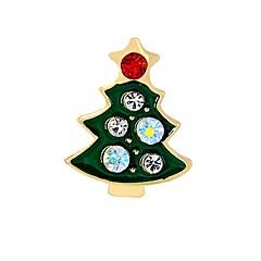 Heren Dames Broches imitatie Diamond Modieus Chrismas Legering Boom van leven Sieraden Voor Kerstmis