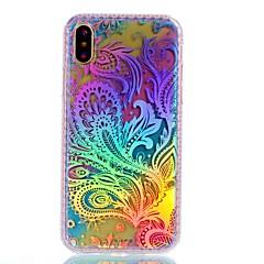 Назначение iPhone X iPhone 8 Чехлы панели С узором Задняя крышка Кейс для  Перья Градиент цвета Твердый Акриловое волокно для Apple
