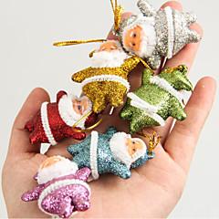 abordables Decoración del Hogar-adornos de árbol de navidad árbol de Navidad colgante pequeño colgante de ancianos de Navidad mezclado 6 colores