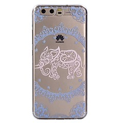 hoesje Voor Huawei P10 Lite P10 Transparant Patroon Achterkantje Lace Printing Olifant Zacht TPU voor Huawei P10 Lite Huawei P10 Huawei