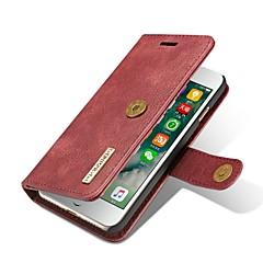Недорогие Кейсы для iPhone 6 Plus-Кейс для Назначение IPhone 7 / iPhone 7 Plus / iPhone 6s Plus iPhone 7 Кошелек / Бумажник для карт / Флип Чехол Однотонный Твердый Настоящая кожа для iPhone 7 Plus / iPhone 7 / iPhone 6s Plus