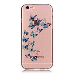 Недорогие Кейсы для iPhone X-Назначение iPhone X iPhone 8 Чехлы панели Защита от удара Ультратонкий С узором Задняя крышка Кейс для Бабочка Мягкий Термопластик для
