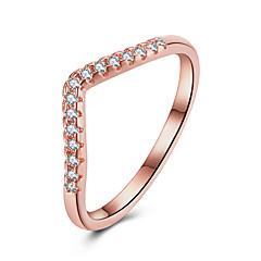 preiswerte Ringe-Damen Kristall Bandring / Verlobungsring - Zirkon, Aleación Simple Style, Modisch 6 / 7 / 8 Gold Für Hochzeit / Party / Halloween