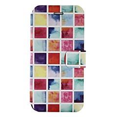 Недорогие Кейсы для iPhone X-Кейс для Назначение Apple iPhone X iPhone 8 Бумажник для карт со стендом Флип С узором Чехол Геометрический рисунок Твердый Кожа PU для