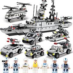저렴한 -SHIBIAO 조립식 블럭 1090 pcs DIY 항공모함 보트 워쉽 파이터 경찰 아동용 어른' 남아 선물