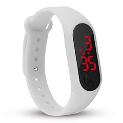 Jij l8007 heren vrouw led-horloge datum rode digitale rechthoek wijzerband