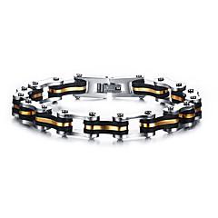Муж. Жен. Браслеты-цепочки и звенья Панк Rock Титановая сталь В форме линии Бижутерия Назначение Для вечеринок