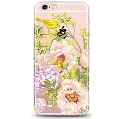 Назначение iPhone 7 iPhone 7 Plus Чехлы панели Ультратонкий Прозрачный С узором Задняя крышка Кейс для Животное Цветы Мягкий Термопластик