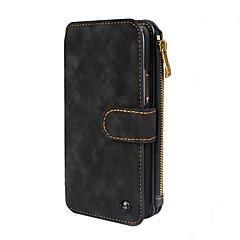 Назначение iPhone X iPhone 8 iPhone 8 Plus Чехлы панели Кошелек Бумажник для карт Защита от удара Флип Магнитный Чехол Кейс для Сплошной