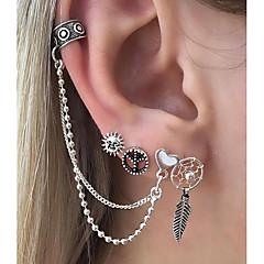 preiswerte Ohrringe-Damen Nicht übereinstimmend Ohrringe baumeln - Herz, Traumfänger Rockig Silber Für Klub Bar / 6pcs