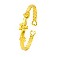 Жен. Браслет разомкнутое кольцо Цветочный дизайн Цветы Регулируется Цветочный принт Позолота В форме цветка маргаритка Бижутерия